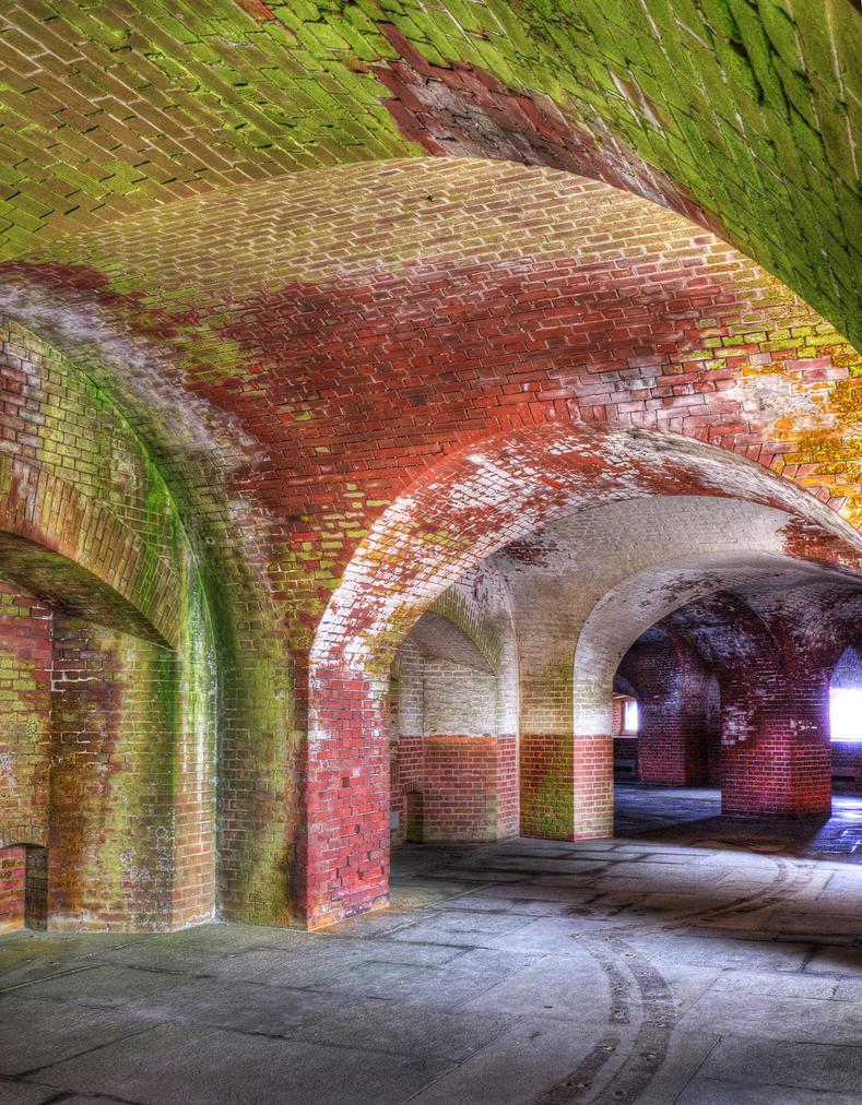 Mossy brickwork by PaulWeber