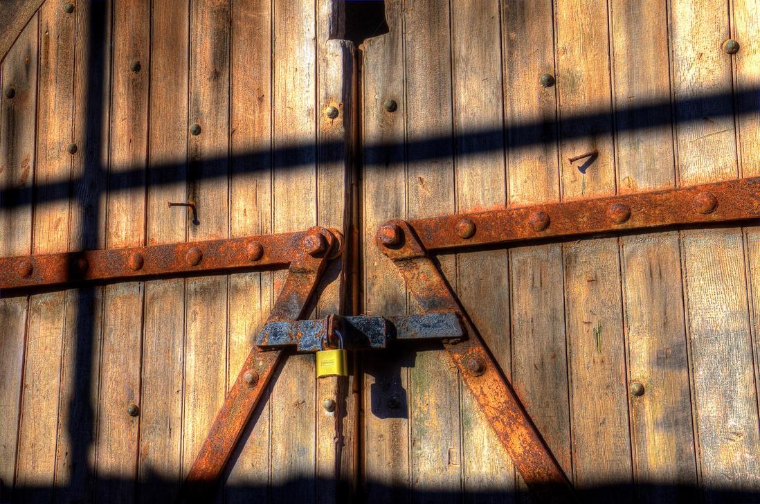 Old door, new lock by PaulWeber