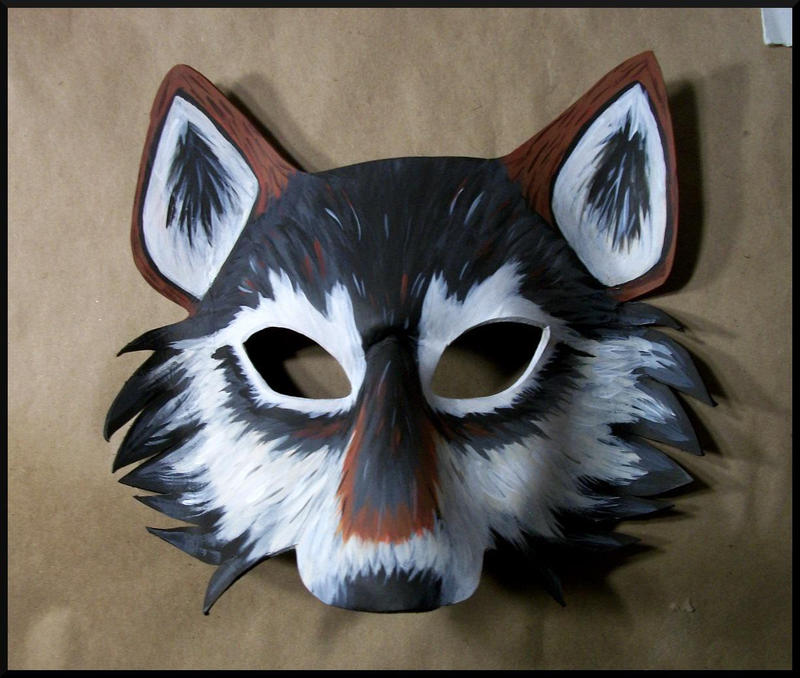 Leather wolf mask template leather wolf mask template photo2 maxwellsz
