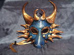 Blue And Gold Dragon Mask