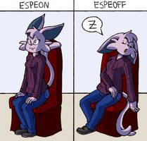 Commission - Espeon/Espeoff by FizTheAncient