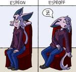 Commission - Espeon/Espeoff