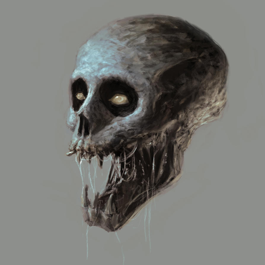 Clown Skull by theartofTK