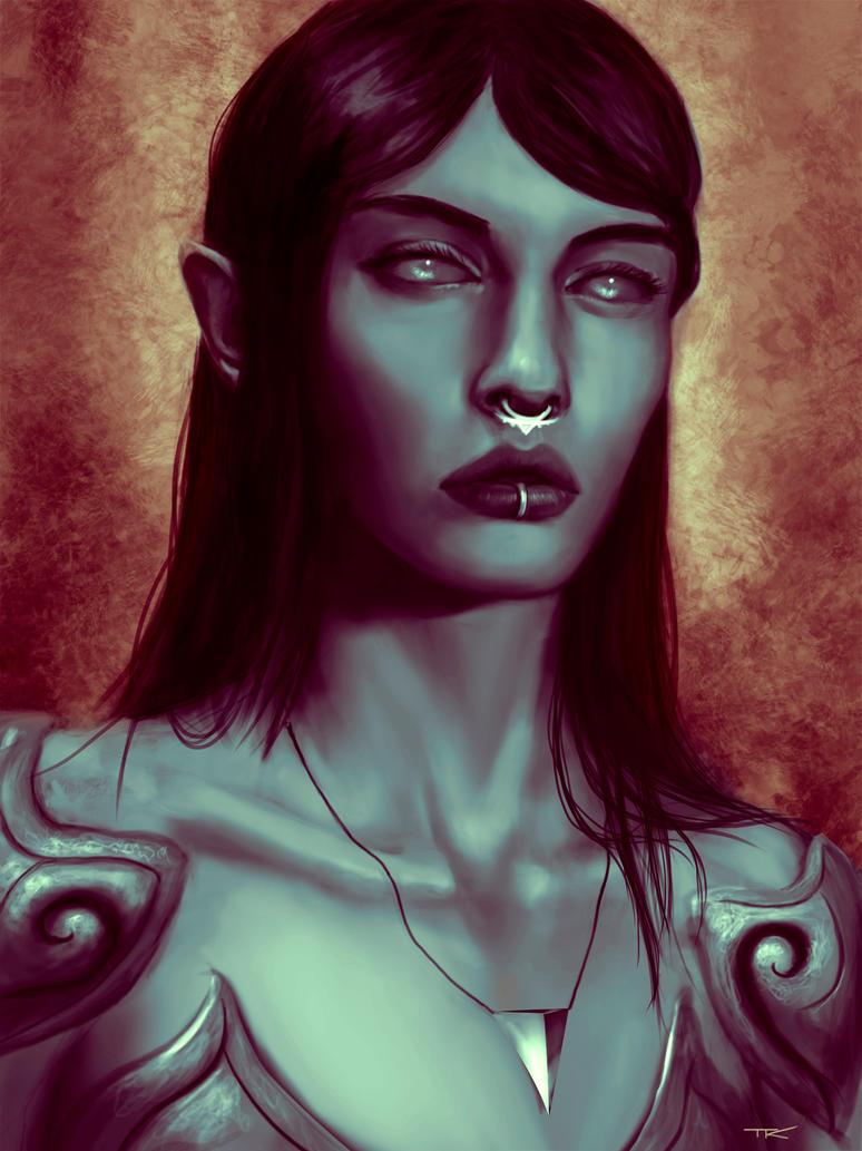 Shaniqua the Dark Elf by theartofTK