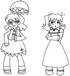 PSG: Yuuka and Elly -lineart-