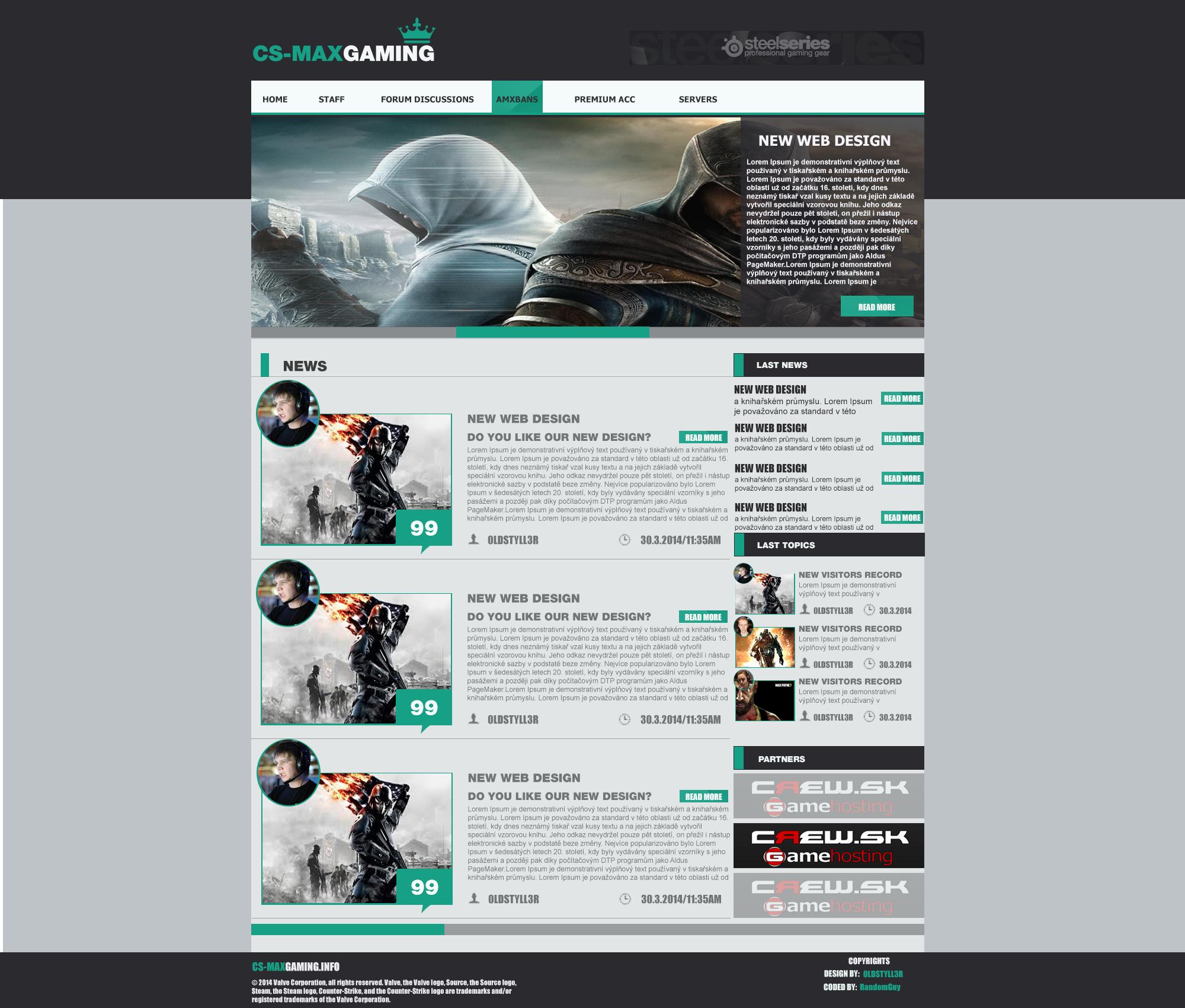CS-MaxGaming Webdesign by 0ldstyll3r on DeviantArt