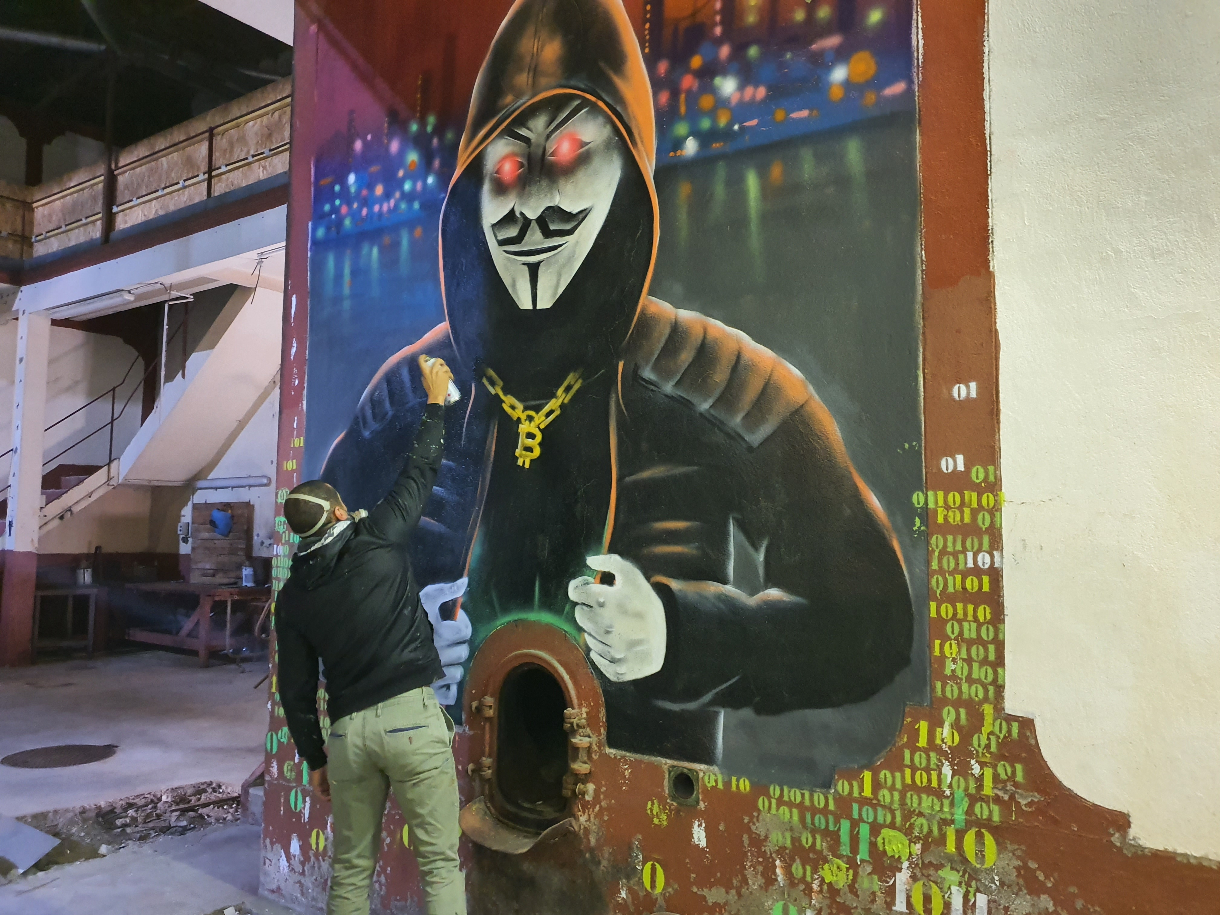 Anonymous#spiktri#art#graffiti#recyclage#streetart
