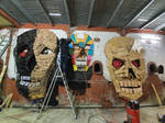 Skullkadrator#Anonymous#spiktri#art#graffiti#recyc