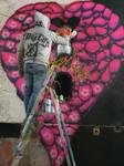 Crazylove##loverium#spiktri#art#graffiti#recyclage