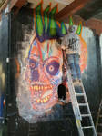 Akenatrium##skullelectriz#spiktri#art#graffiti#rec
