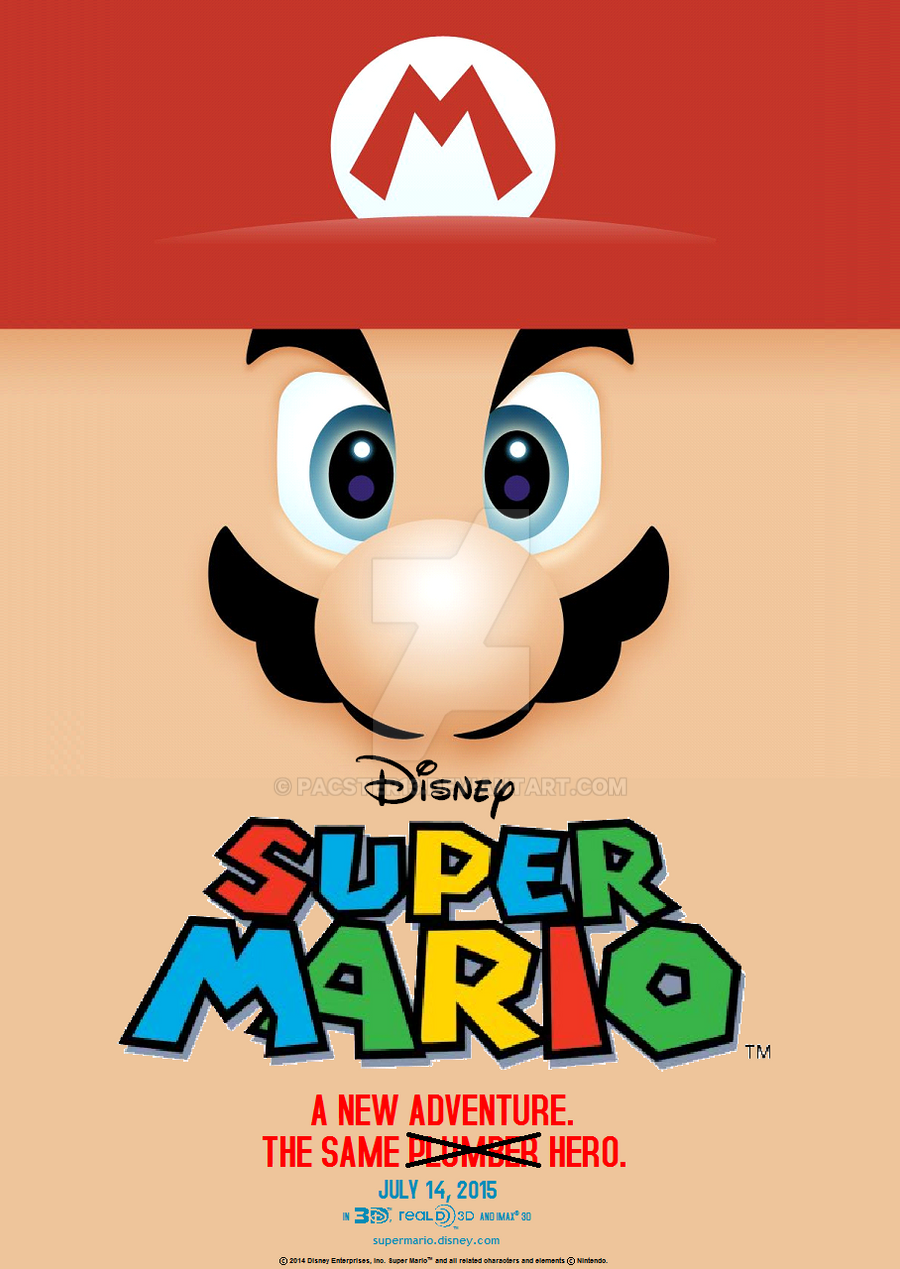 super mario movie poster fake by pacster13 on deviantart