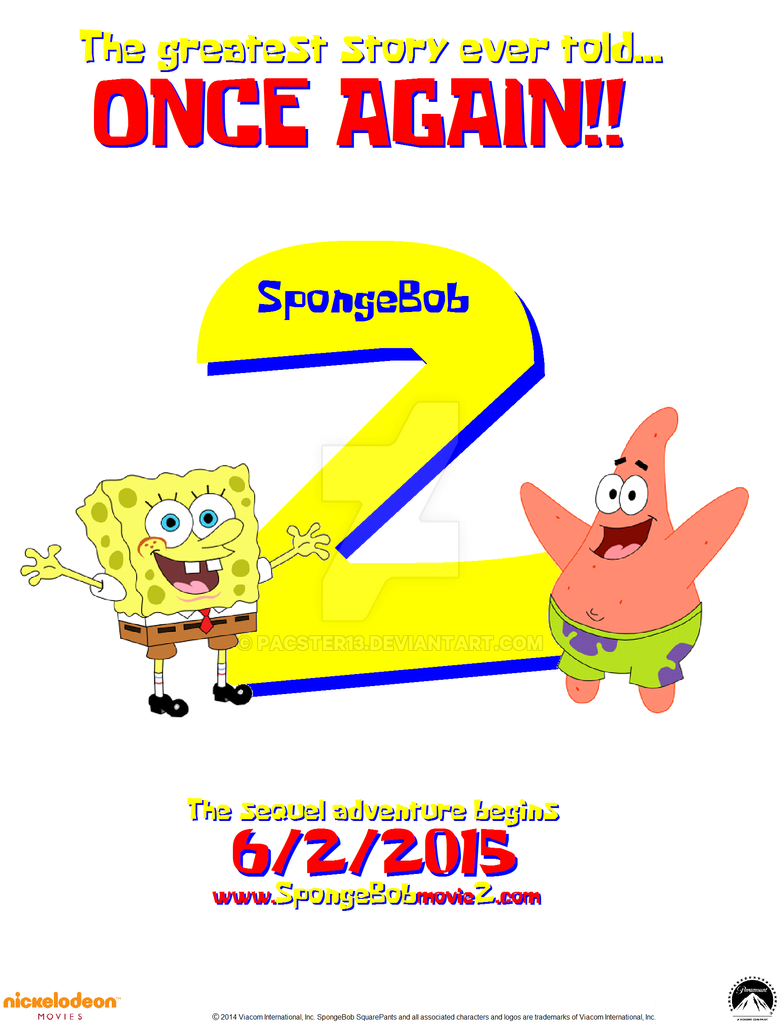 spongebob squarepants 2 teaser poster my take by pacster13 - Spongbob 2