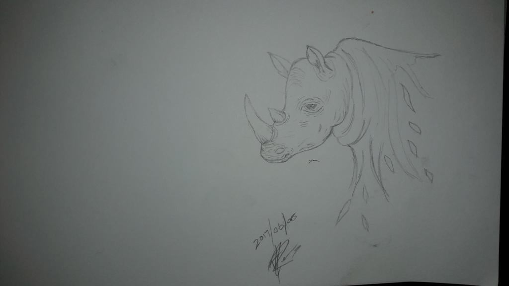 Fading Rhino by HowlerPaw