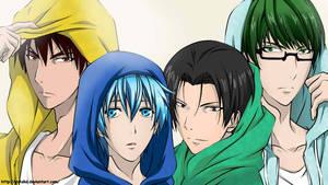 Kagami, Kuroko, Takao and Midorima