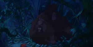 Kala And Kerchak Sleeping