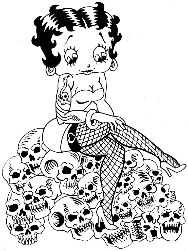 Betty Boop Mistress of Death by trombs on DeviantArt