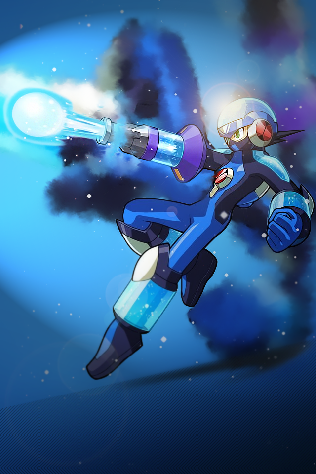 megaman iphone wallpaper by theinv4sion on deviantart
