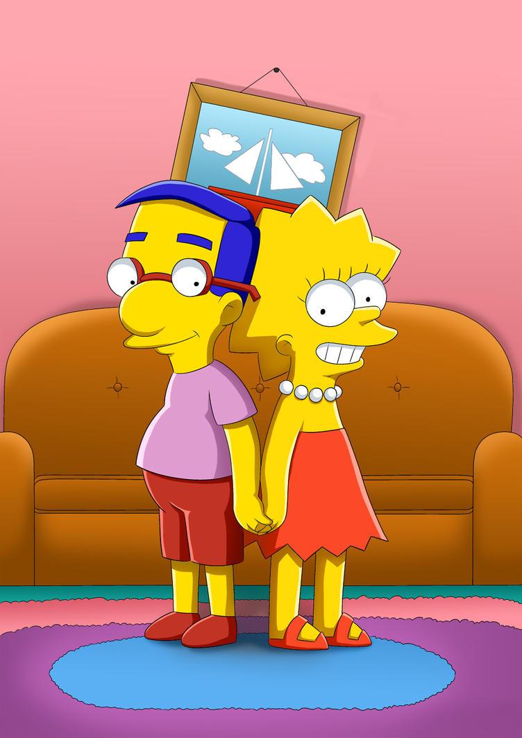Milhouse and Lisa by RUinc