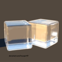 Ice cubes from the drawings before
