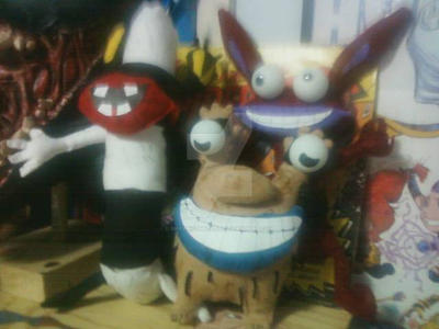 AAAAHHHHH!!!! REAL MONSTERS CAST PLUSH TOYS by shawncomicart