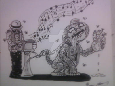 ZOMBIE MONKEY AND ORGAN GRINDER by shawncomicart