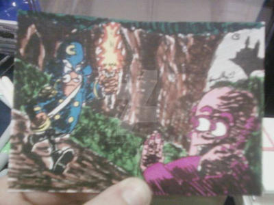 CAP'N CRUNCH/FRANKENBERRY SKETCH CARD COMMISSION by shawncomicart