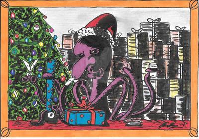 CHRISTMAS CARD 2013! by shawncomicart