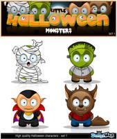 Little Halloween Monsters by Npr1977