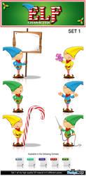 Elf Character - Set 1 by Npr1977