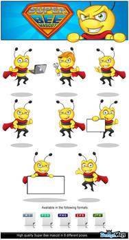 Superhero Bee Mascot by Npr1977