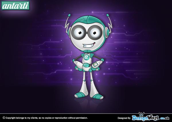 15 - Antarti Robot Mascot Design