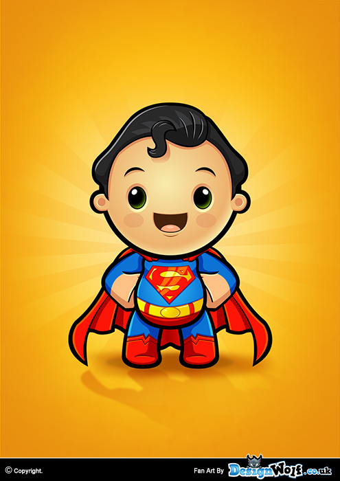 Superman Kawaii Character