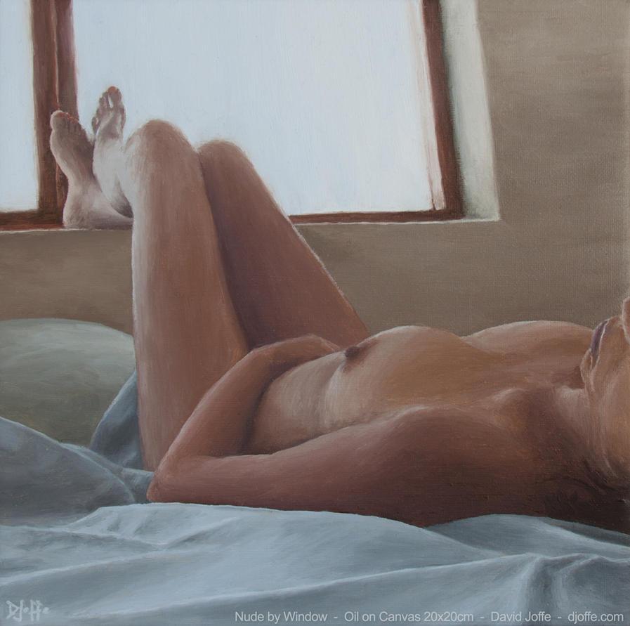 Nude by Window - Oil on Linen (2015) by david-joffe