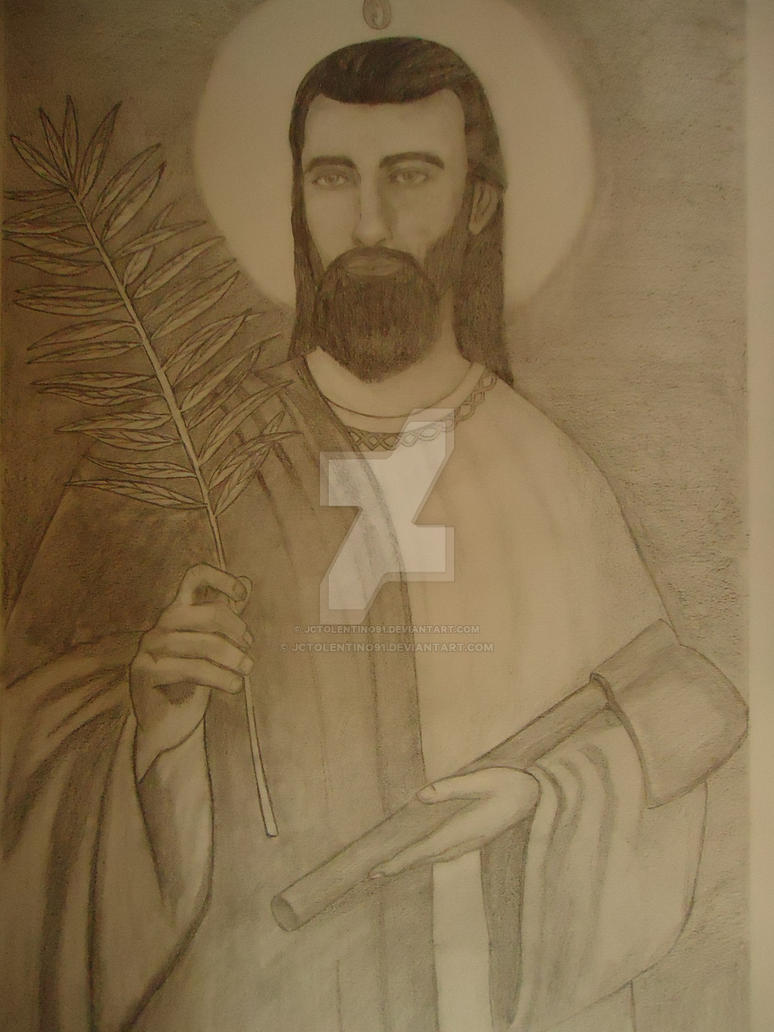 San Judas Tadeo Dibujo A Lapiz By Jctolentino91 On Deviantart