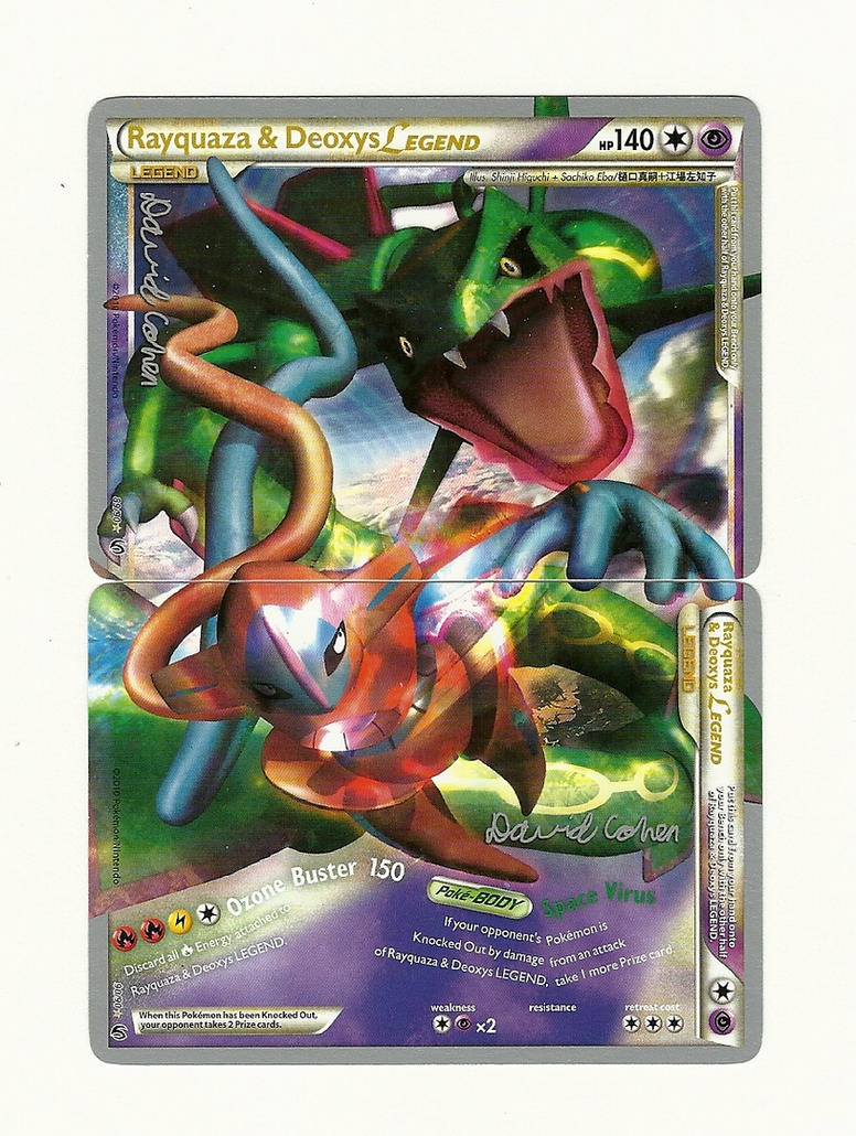 Rayquaza and Deoxys Legend cards by adventurerabby on ...