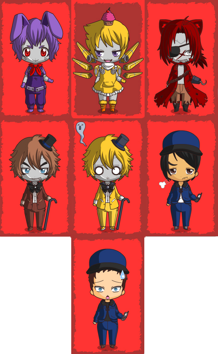 Five nights at freddys dress up game - Five Night S At Freddy S Chibis By Gamergir8