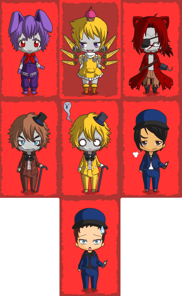 Dress up five nights at freedys - Five Night S At Freddy S Chibis By Gamergir8