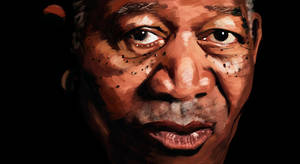 Painting Morgan Freeman