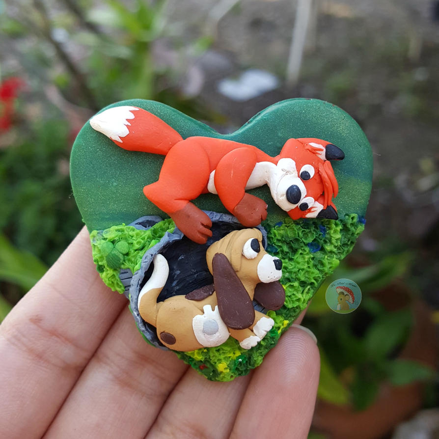 Fox and Hound by LePetitMouse by CreationsByMelissa