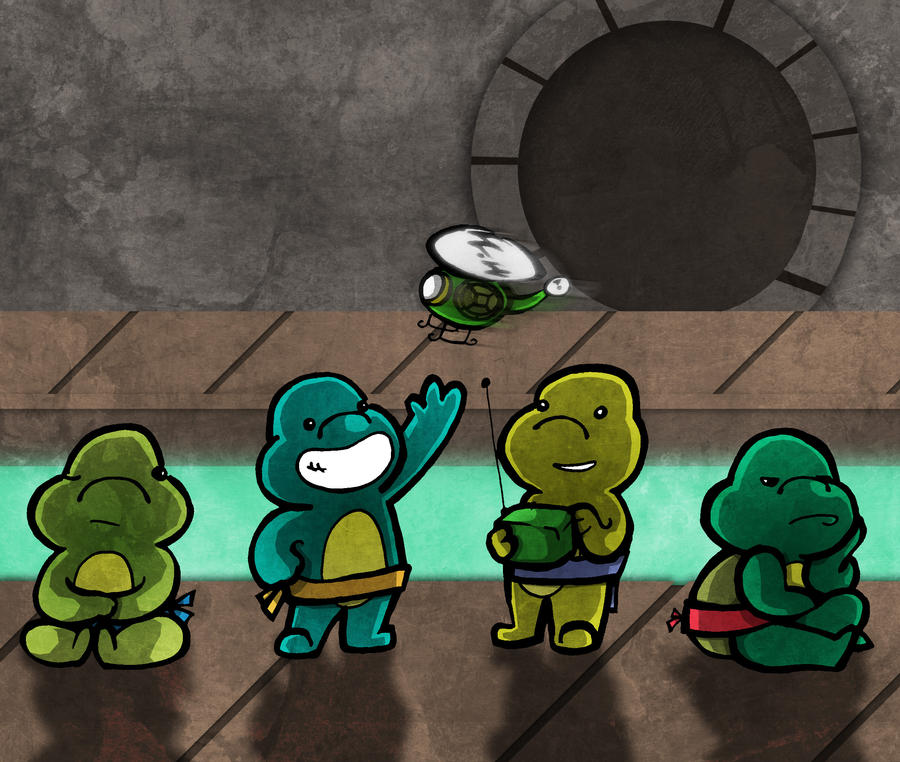 Baby Mutant Ninja Turtles by Hanogan on DeviantArt