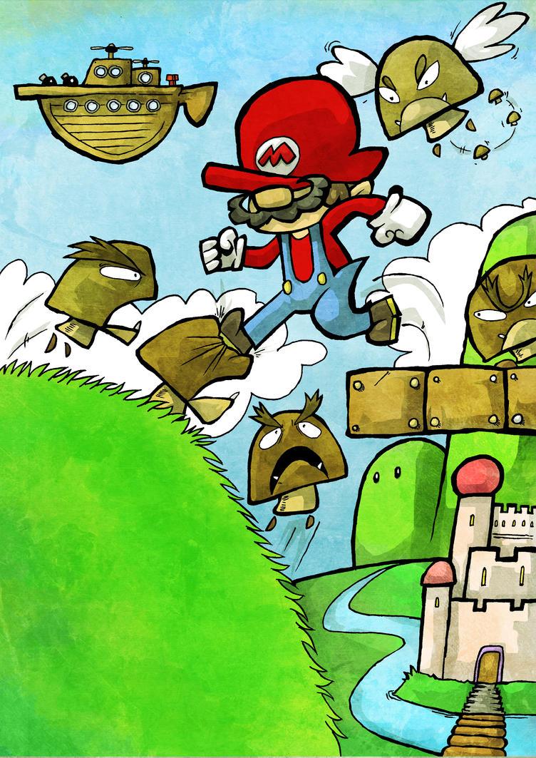 Super Mario Bros 3 - Grass Land by Hanogan