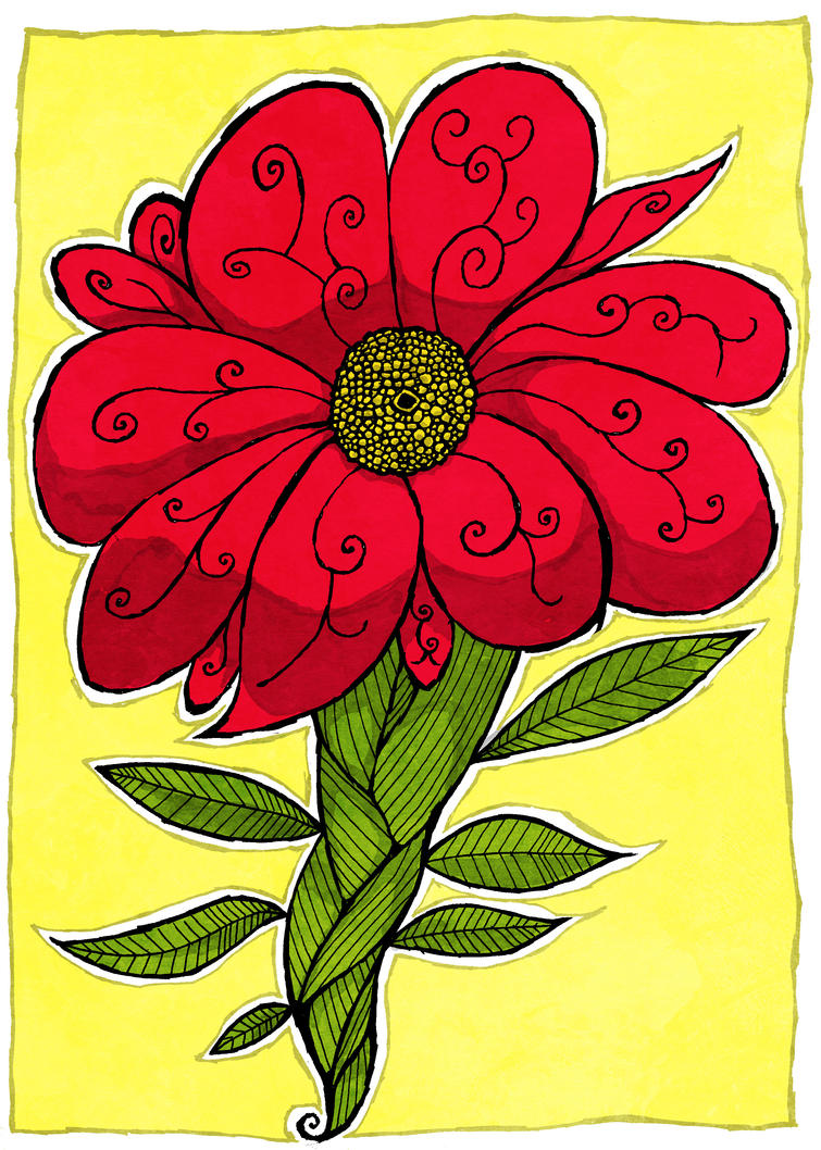 Bold Flower by Hanogan