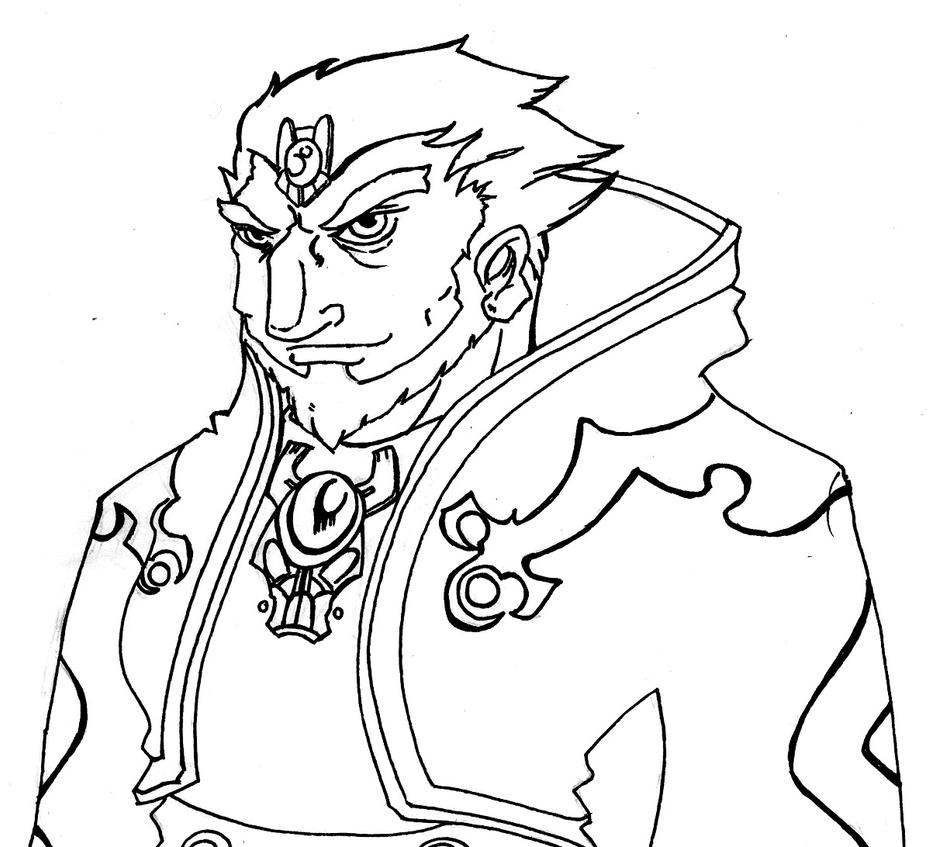 ganondorf coloring pages - photo#5