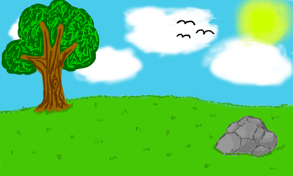 The terribly generic and basic outdoorsy scene by Gold-Ringed-Eyes