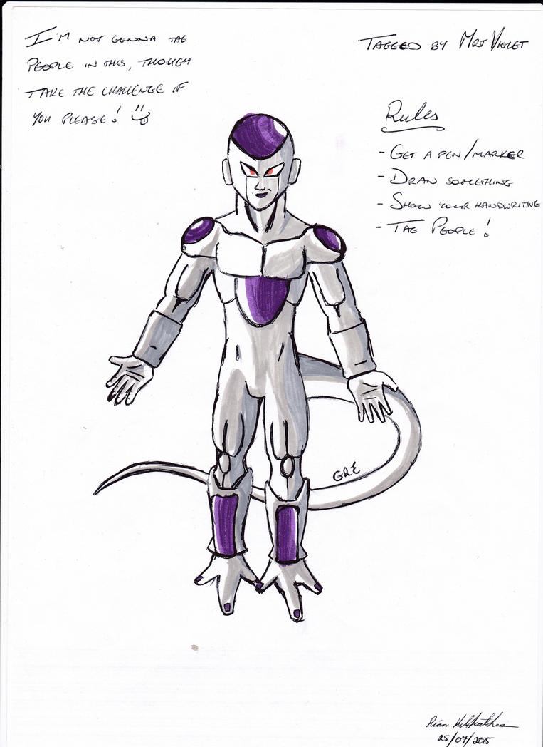 Frieza - Ink Challenge by Gold-Ringed-Eyes