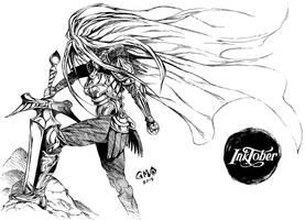 Warrior Goddess by gmoshiro