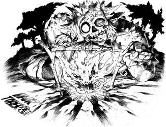Inktober - Hungry by gmoshiro