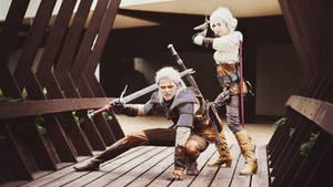 Geralt and Ciri by Amyee1