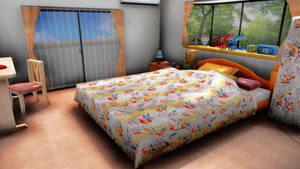 mmd bedroom by aittel