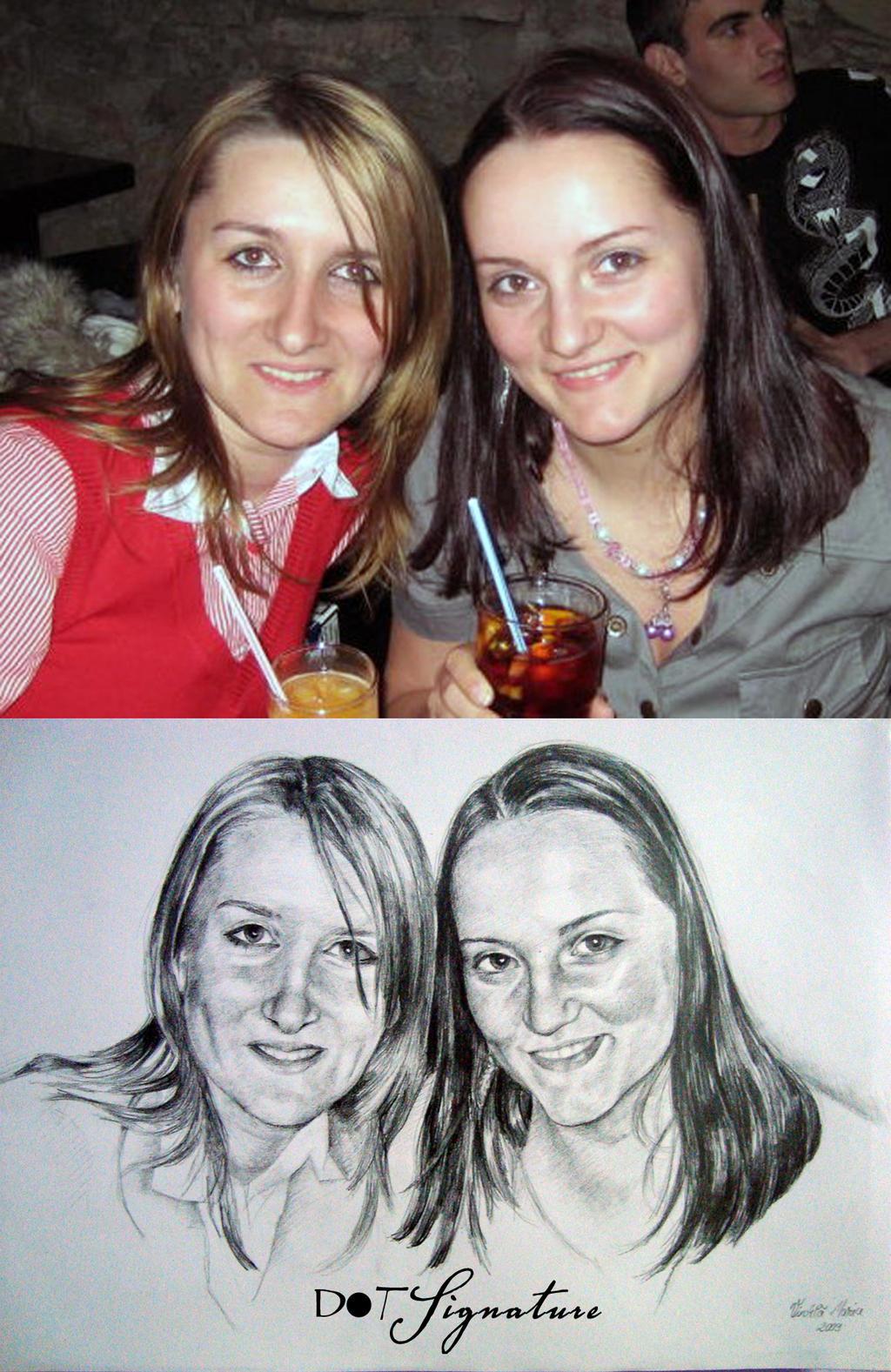 Pencil Portrait 2 by dotSingnature